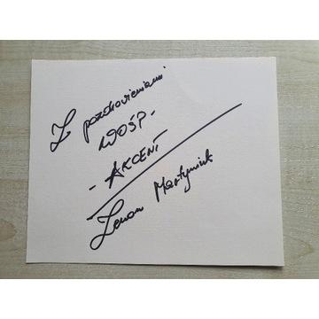 Autograf Zenona Martyniuka (Akcent)