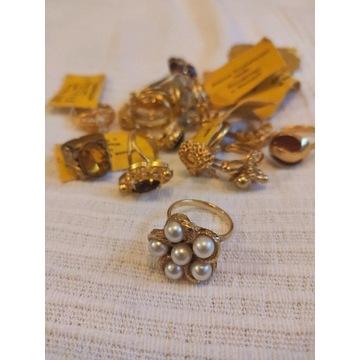 retro biżuteria - zestaw 14 pierścionków