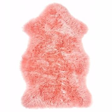 Skóra owcza różowa dywanik IKEA Smidie
