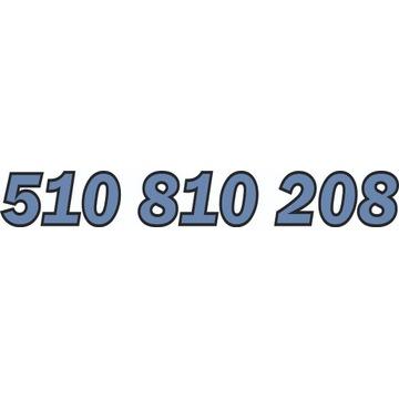 510 810 208 ZŁOTY NUMER STARTER ORANGE
