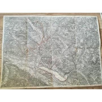 mapa  Gmünd und Spittal (Karyntia, Austria)