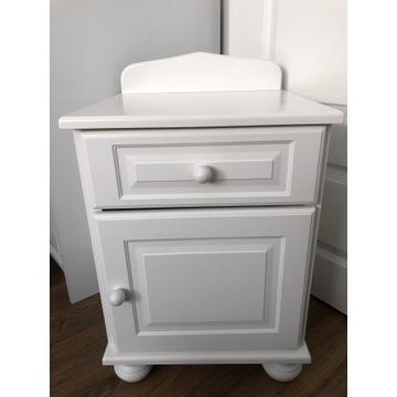 Caramella szafka nocna do łóżeczko biała sypialnia