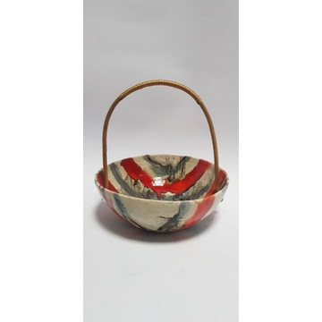Stara ceramiczna miska na owoce PRL Dizajn Design