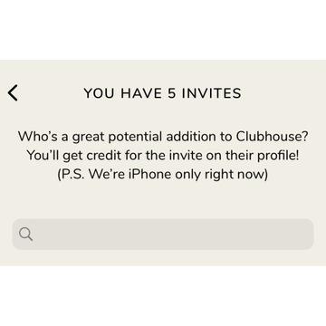 Zaproszenie ClubHouse