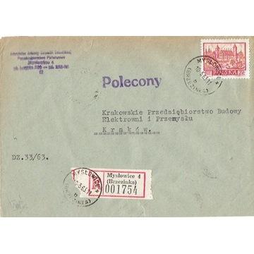 Mysłowice (Brzezinka)- Koperty listów pol. 1960-80