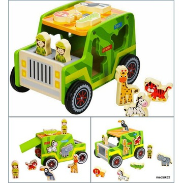 Drewniane Auto Safari sorter Tooky Toy