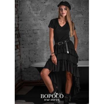 Czarna spódnica asymetryczna roz. M