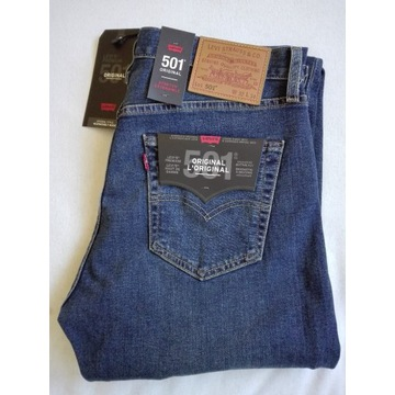 Nowe Spodnie jeans Levis 501 32/34 WYPRZEDAŻ - 65%
