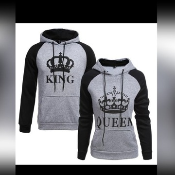bluza dla pary king queen M