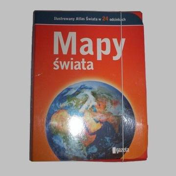 GAZETA WYBORCZA Mapy świata ilustrowany atlas
