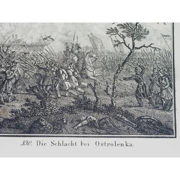 1834 rare ORYGINAŁ OSTROŁĘKA bitwa 1831 POWSTANIE