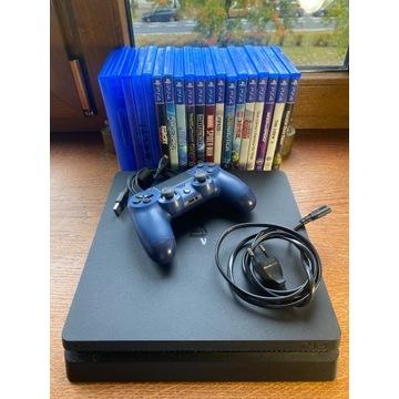 Playstation 4 slim 500 GB + Pad + 19 gier!!!