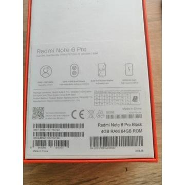 Xiaomi Redmi Note 6 Pro 4/64GB bardzo dobry stan