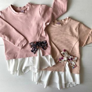 Bluzka tunika bluza 104/110 elegancka