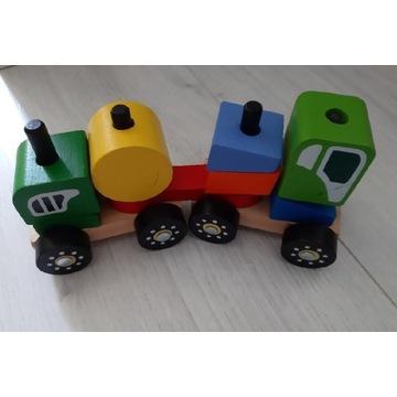 Delta Sport Drewniana zabawka, kolejka z wagonami