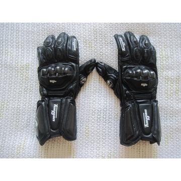 Rękawice motocyklowe roz. L czarne, jak nowe motoc