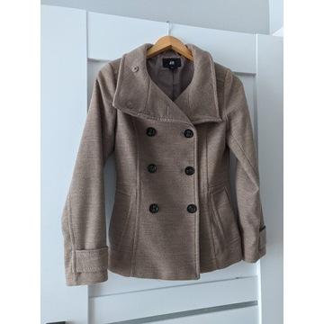 Płaszczyk beżowy jesienno zimowy bosmanka H&M XS