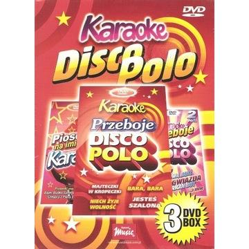 Disco polo karaoke 3dvd box nowy folia