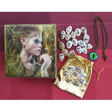 Elfie pudełko z magicznymi runami