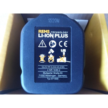 Bateria Rems 571555 14,4V 3Ah Li-Ion