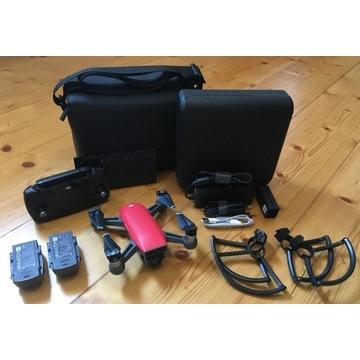 Dron DJI Spark Combo Czerwony + Akcesoria