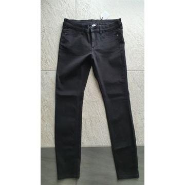 TEZENIS czarne spodnie jeansy 36 NOWE