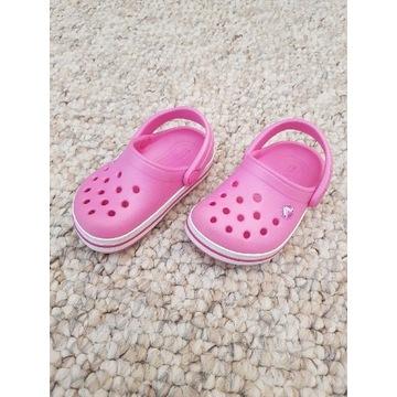 Klapki CROCS Party Pink, rozmiar 20,5