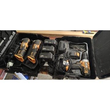 Zestaw Jcb wiertarko-wkrętarka i urządzenia  multi