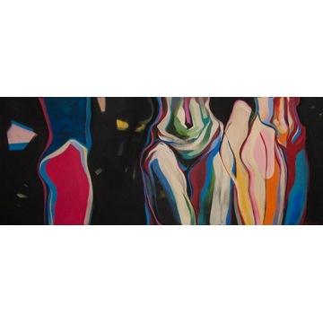 """Mariia Shpychak - Obraz """"MARCH"""", 40x100 cm"""