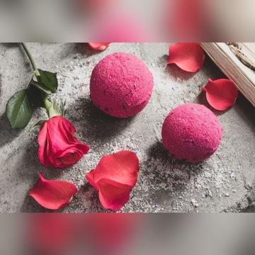 Bomba kula do kąpieli 100% naturalna róża 120g