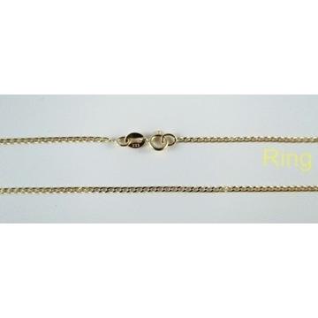Złoty łańcuszek pancerka dł.45cm złoto pr.333