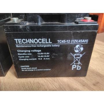 Akumulator Technocell TC45-12, 45Ah, 12V