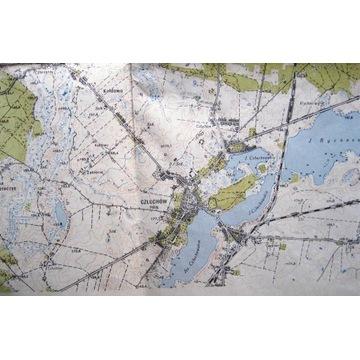 Mapa topograficzna powiatówka Człuchów 1:25000 66r