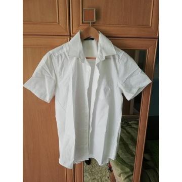 Koszula chłopięca biała gładka 39/40