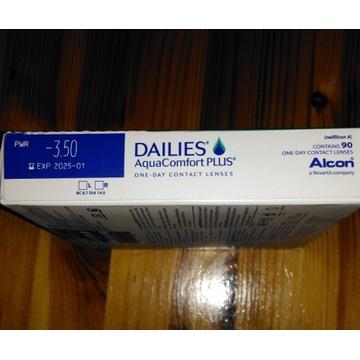 Soczewki Dailies AquaComfort PLUS, 90 szt.  -3.50