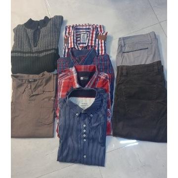 Zestaw ubrań męskich rozm.XL Koszula Spodnie Bluza