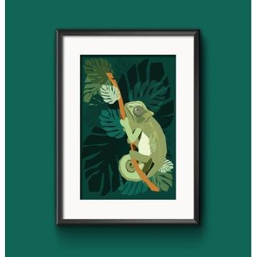 Plakat Kameleon, dekoracja do domu