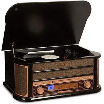 Gramofon Retro USB/KASETY/GRAMOFON/CD/UKF MF