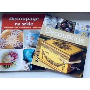 Nauka Decoupage 2 ksiażki