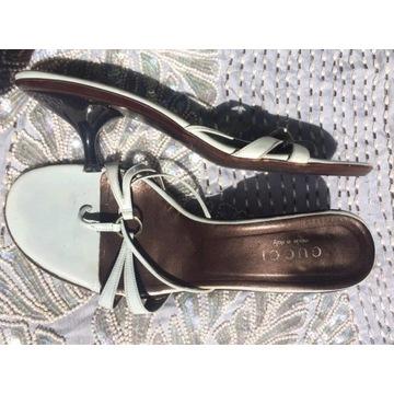 Śliczne klapki sandały Gucci rozmiar 37.5 38