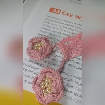 Zakładka z kwiatami i perłami, ekskluzywny prezent