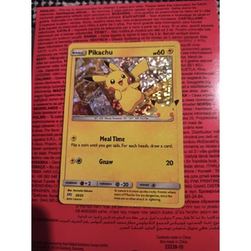Karta Pikachu HOLO 25-Lecie McDonald's