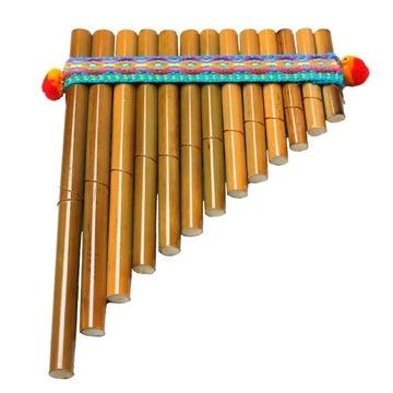 Fletnia pana indiańska instrument ludowy etniczny