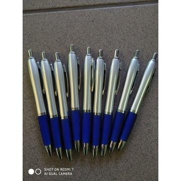 Długopisy metal plastik 9 sztuk