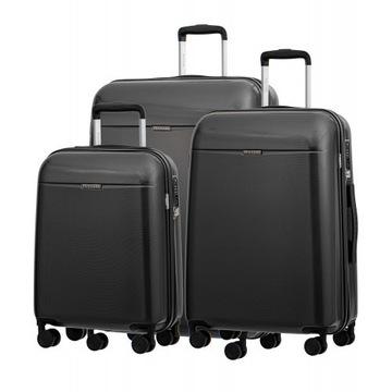 Zestaw walizek PUCCINI VOYAGER ZWPC005 Antracyt