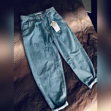 Nowe spodnie z metkami Zara slouchy jeans