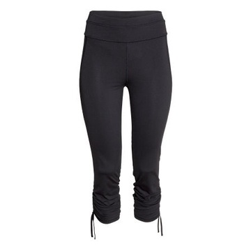 Czarne legginsy spodnie H&M xs 34 sport fitness