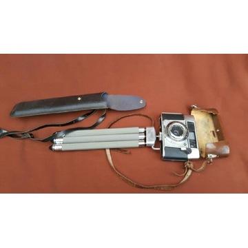 Stary aparat AGFA + statyw Meopta