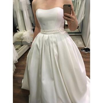 Elegancka suknia ślubna z mikado