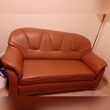 Sofa skórzana prawie jak nowa z funkcją spania